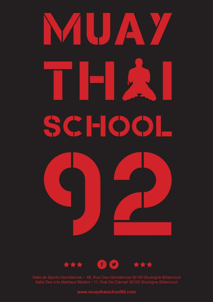 Affiches BLACK MUAY THAI SCHOOL 92 by Coach Riad Bel